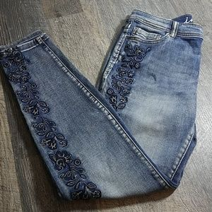 [INC] Gorgeous Embroidered Skinny Jeans